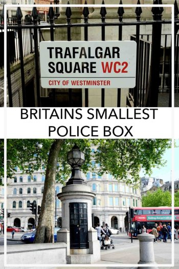 Britains Smallest Police Station Trafalgar Square