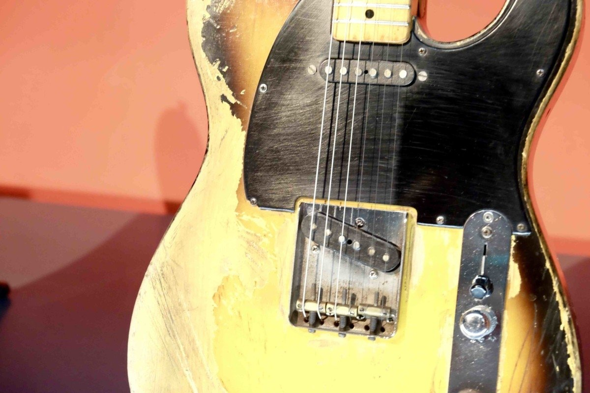 David Gilmores worn Fender Esquire aptly named 'workmate'