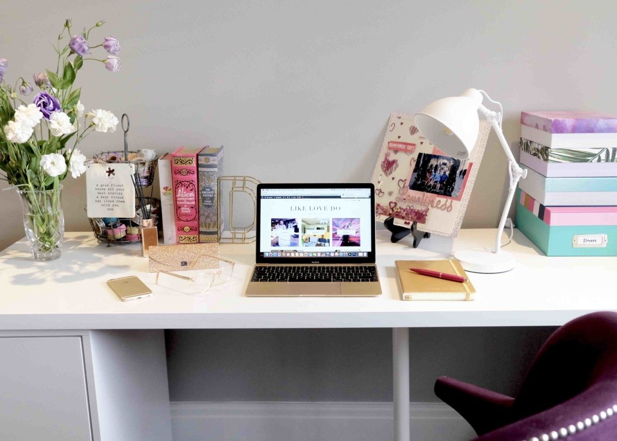 Like Love do create your own personal desk space ikea desk next lamp