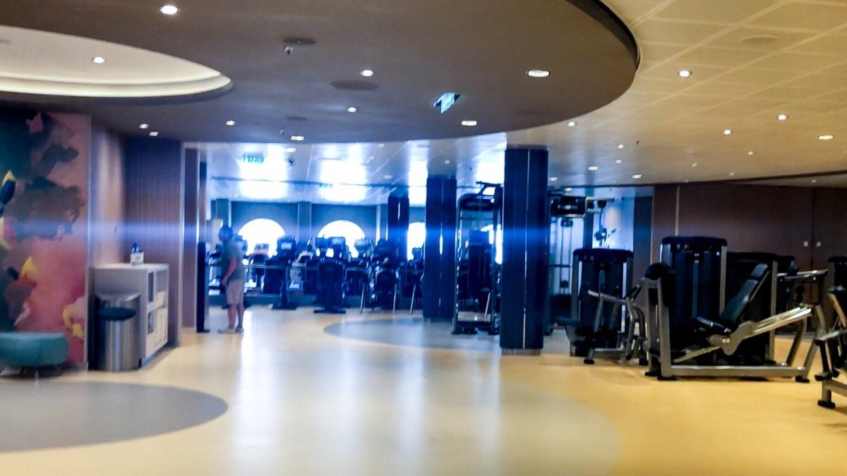 Gym Vitality fitness centre on Symphony of the Seas