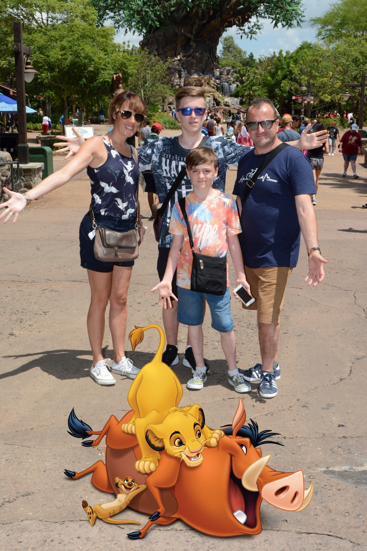 Disney Photo Pass magic photo with Simba at Animal kingdom Disney tips