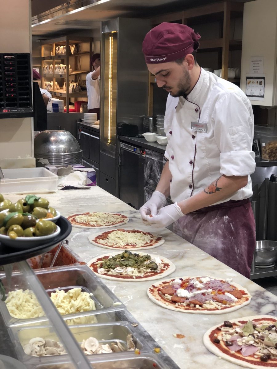 Vapiano Italian Restaurant pizza making