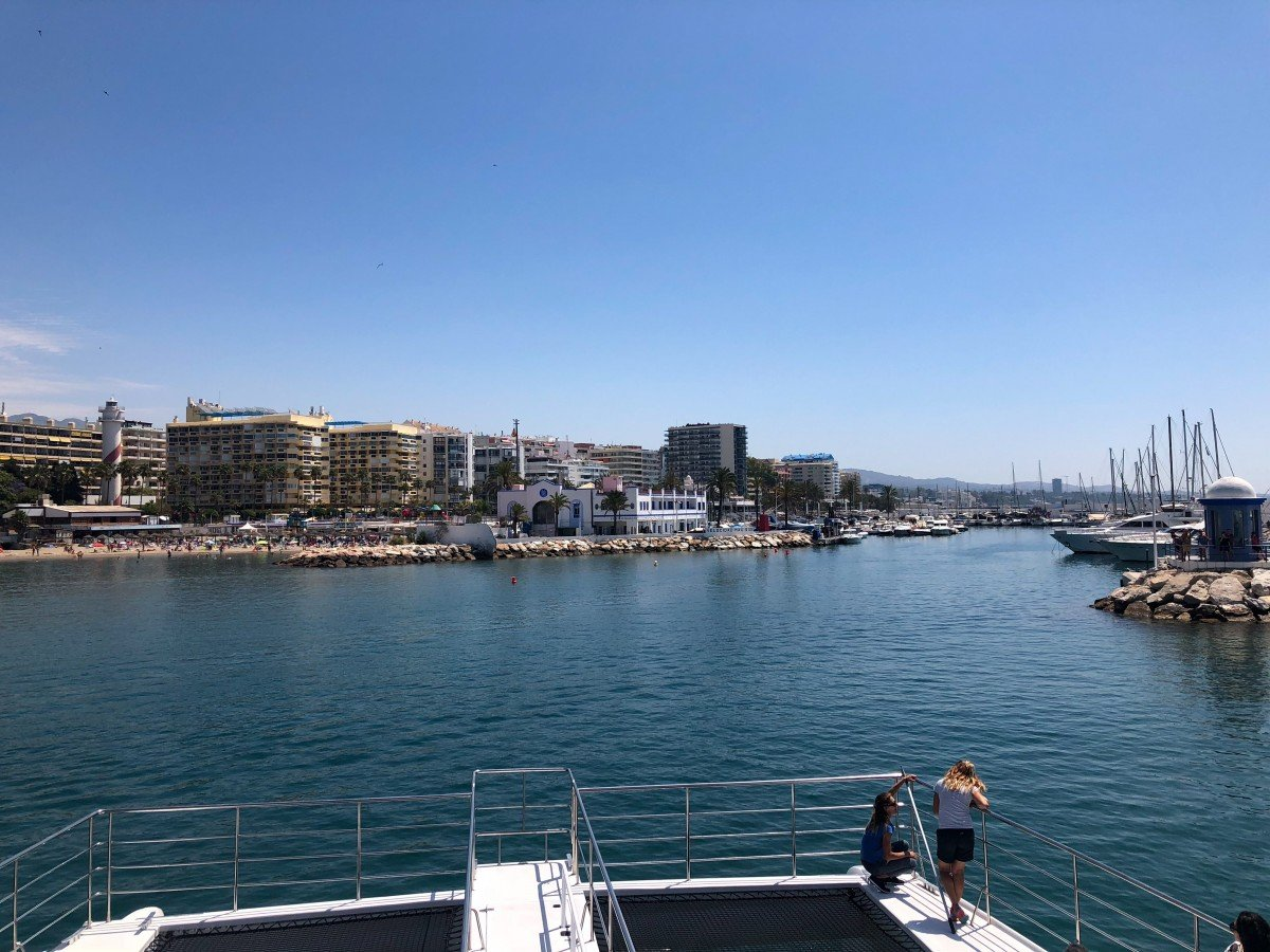 Puerto Banus to Marbella Boat Trip Fly Blue ferry Port of Marbella