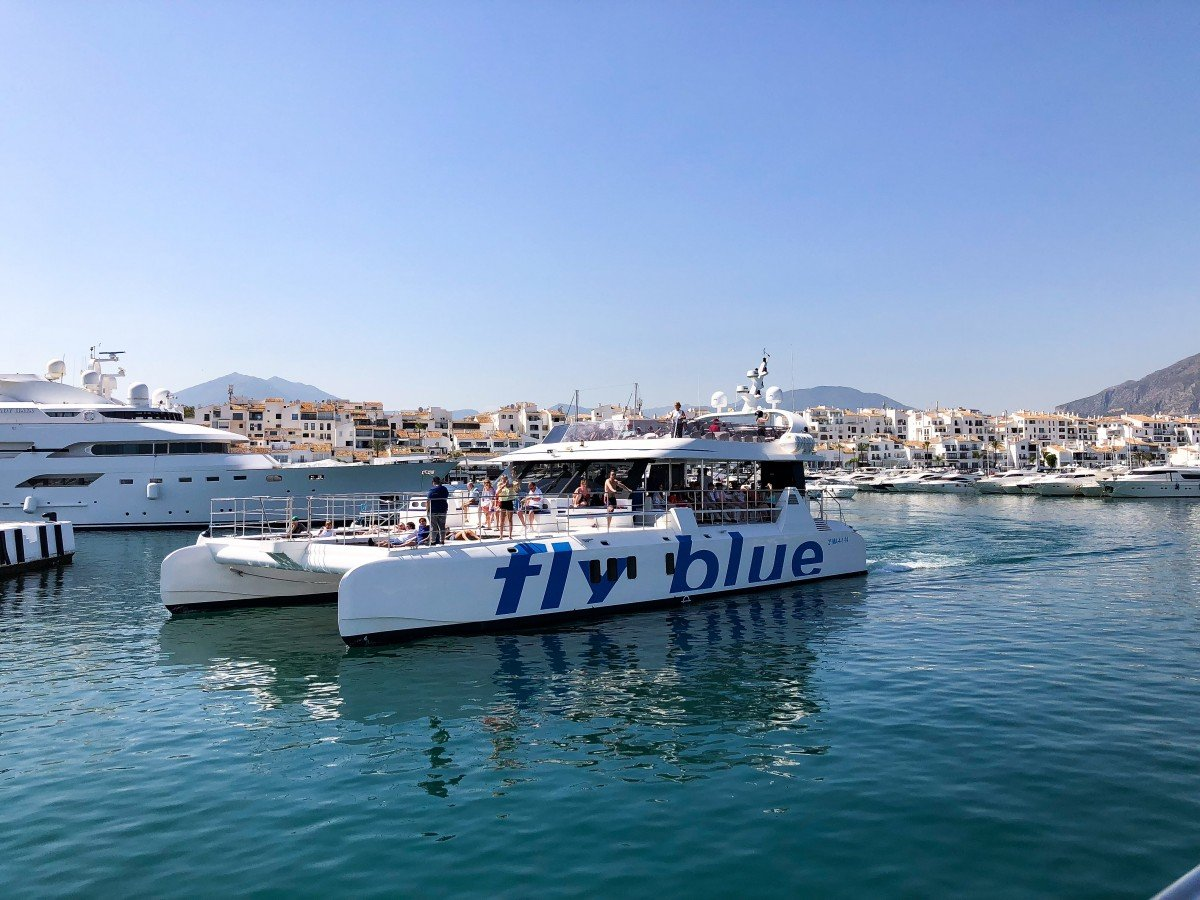 Puerto Banus to Marbella Boat Trip Fly Blue ferry