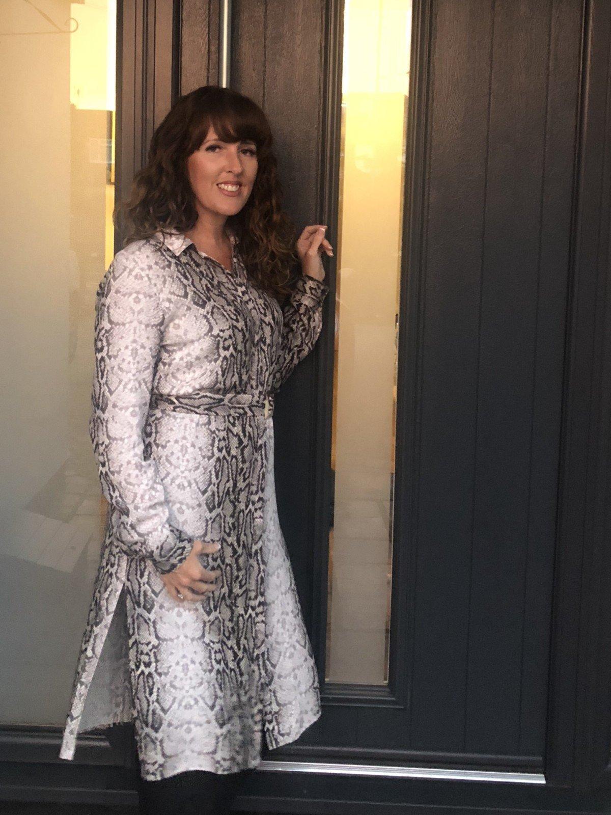 F and F snakeskin dress