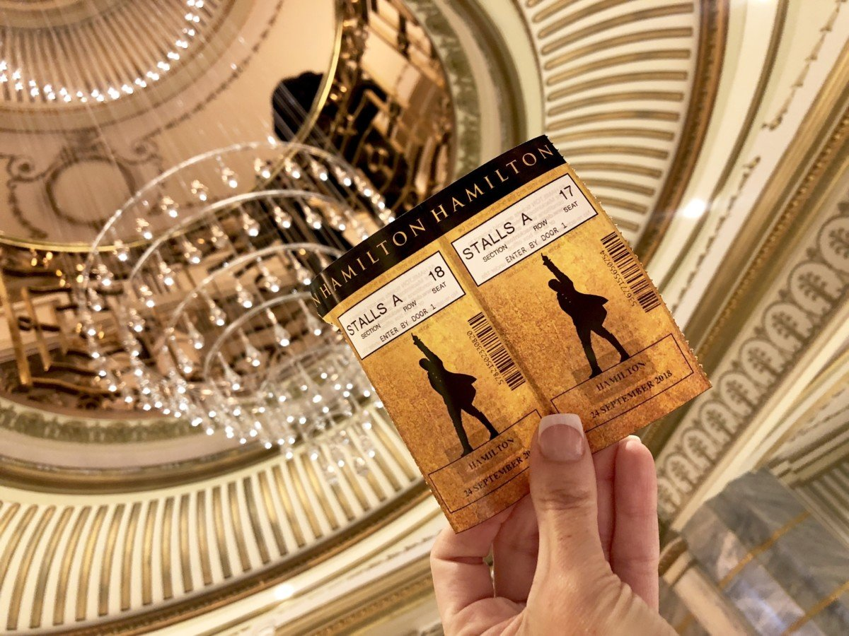 £10 lottery tickets at Hamilton the Musical