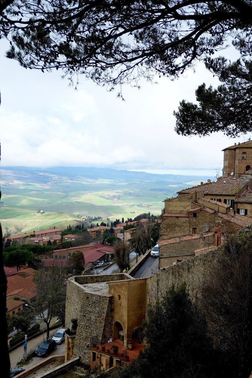 Volterra in Tuscany the hills