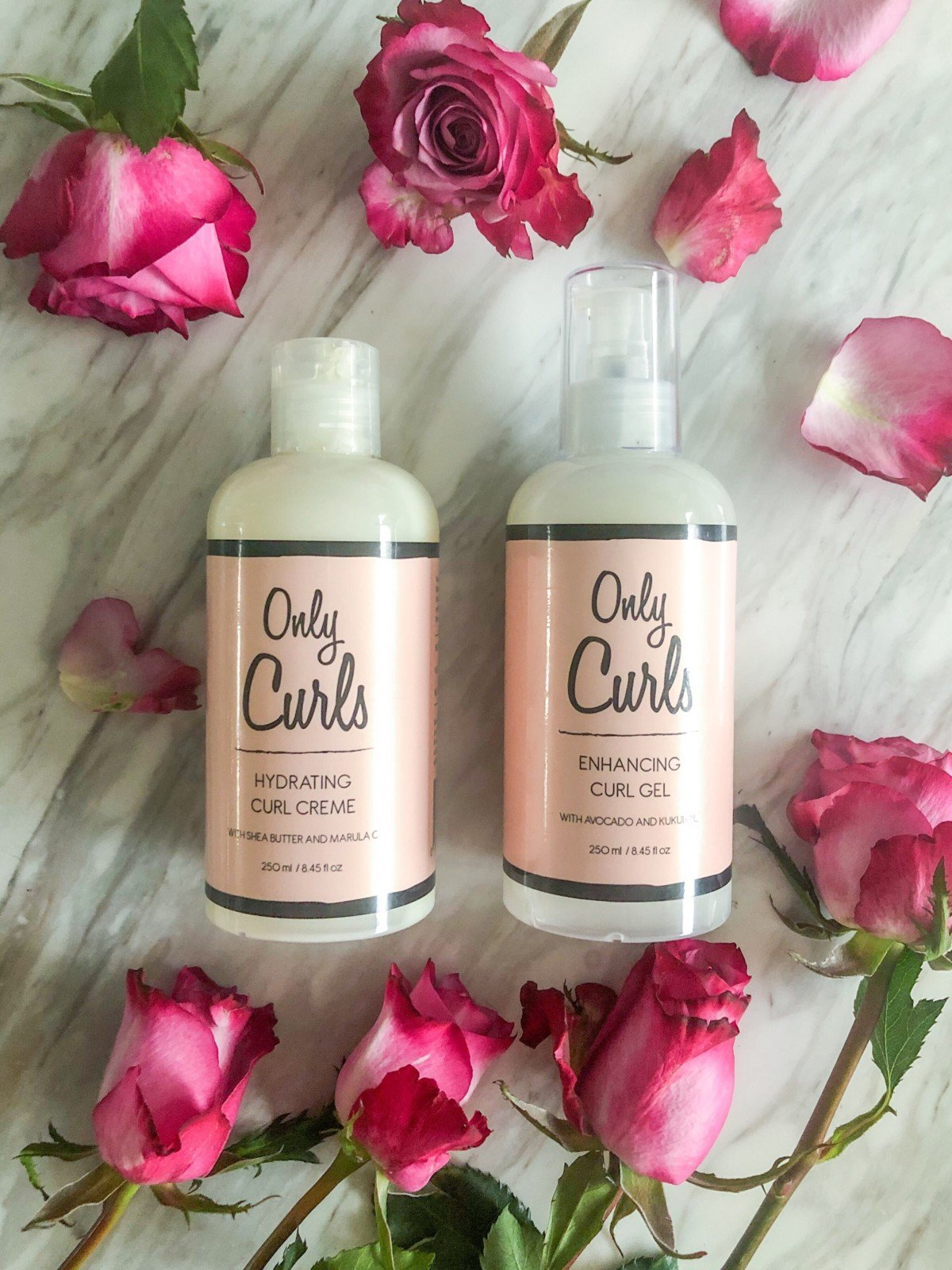Specifically for girls with curls and perfect for the curly girl method Only Curls are a vegan natural brand. Only Curls Hydrating curl creme and Curly girl UK approved Enhancing Curl gel.
