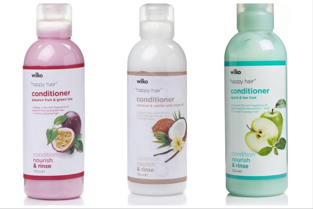 curly girl method approved conditioners from wilkinson supermarket UK