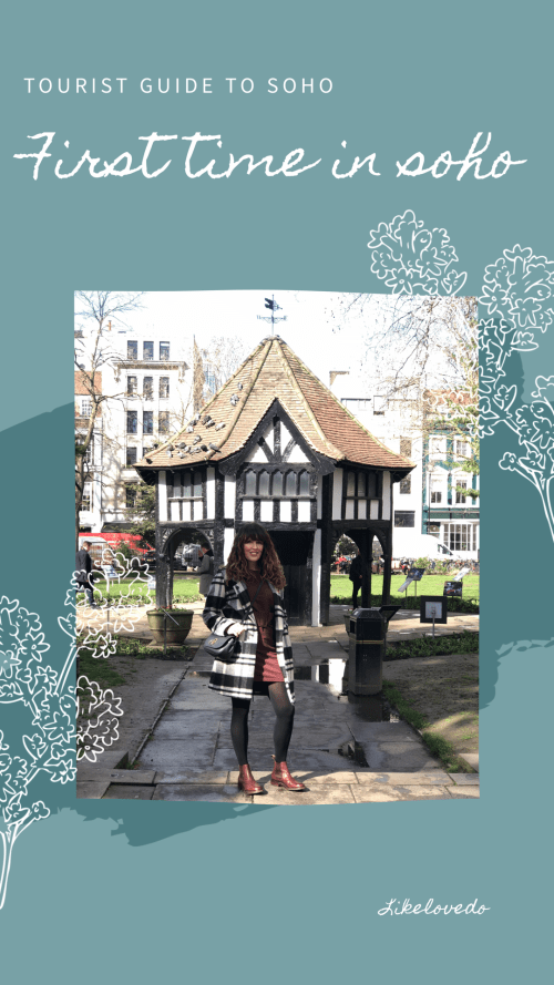 Soho London day out guide Soho even has some greenery in the form of two pretty parks in Soho, Soho Square and Golden square. With restaurants and Bars close by you can choose to sit in this is the first time in London Soho guide