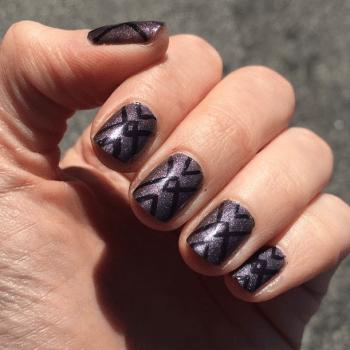 geometric nails x
