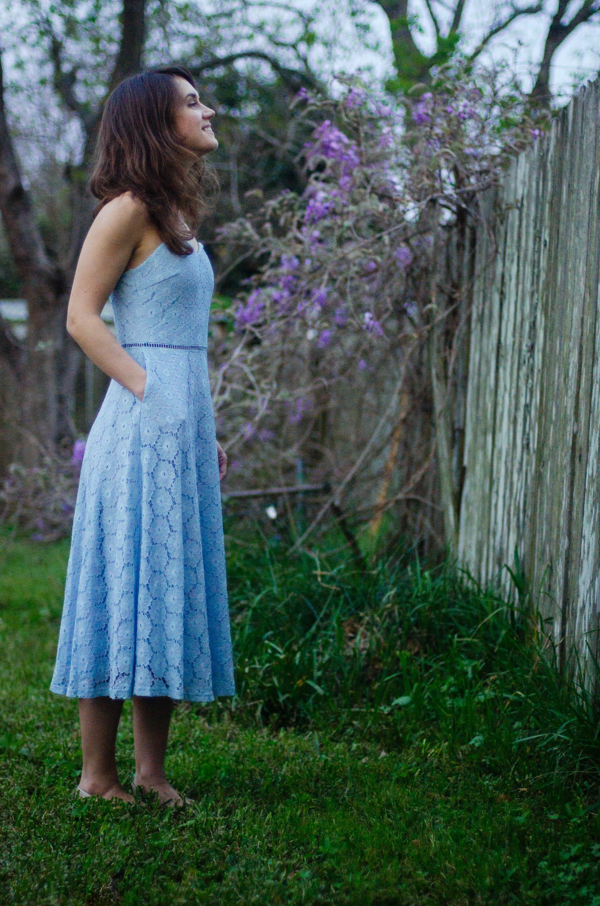 baby blue spring dress