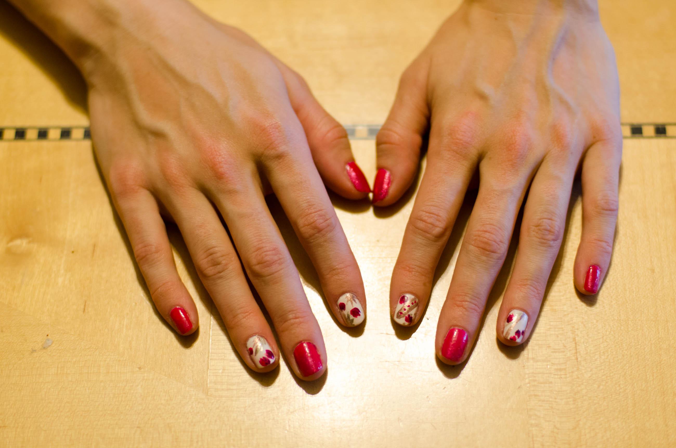 floral nail tutorial outlander