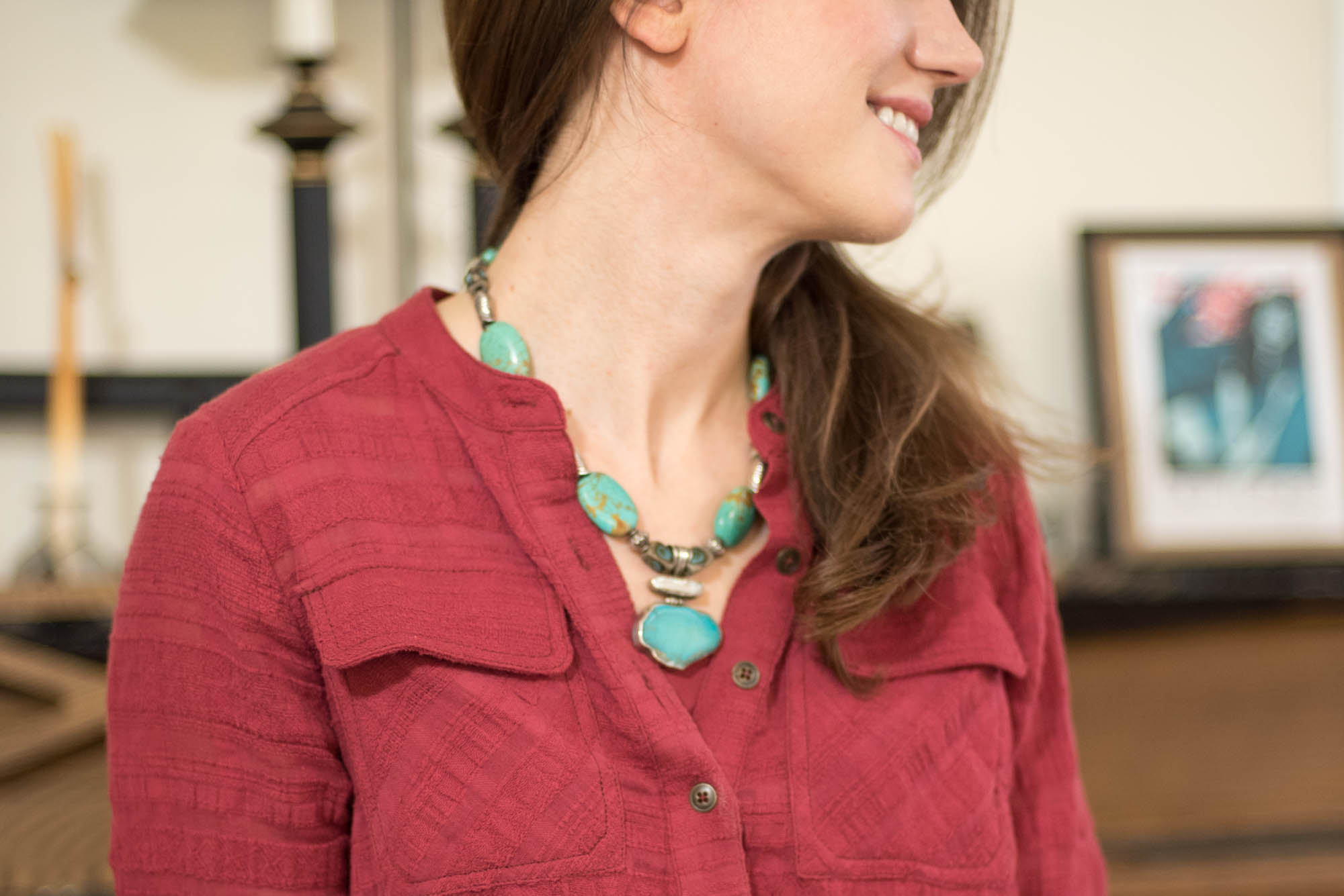 what to wear with turquoise jewelry