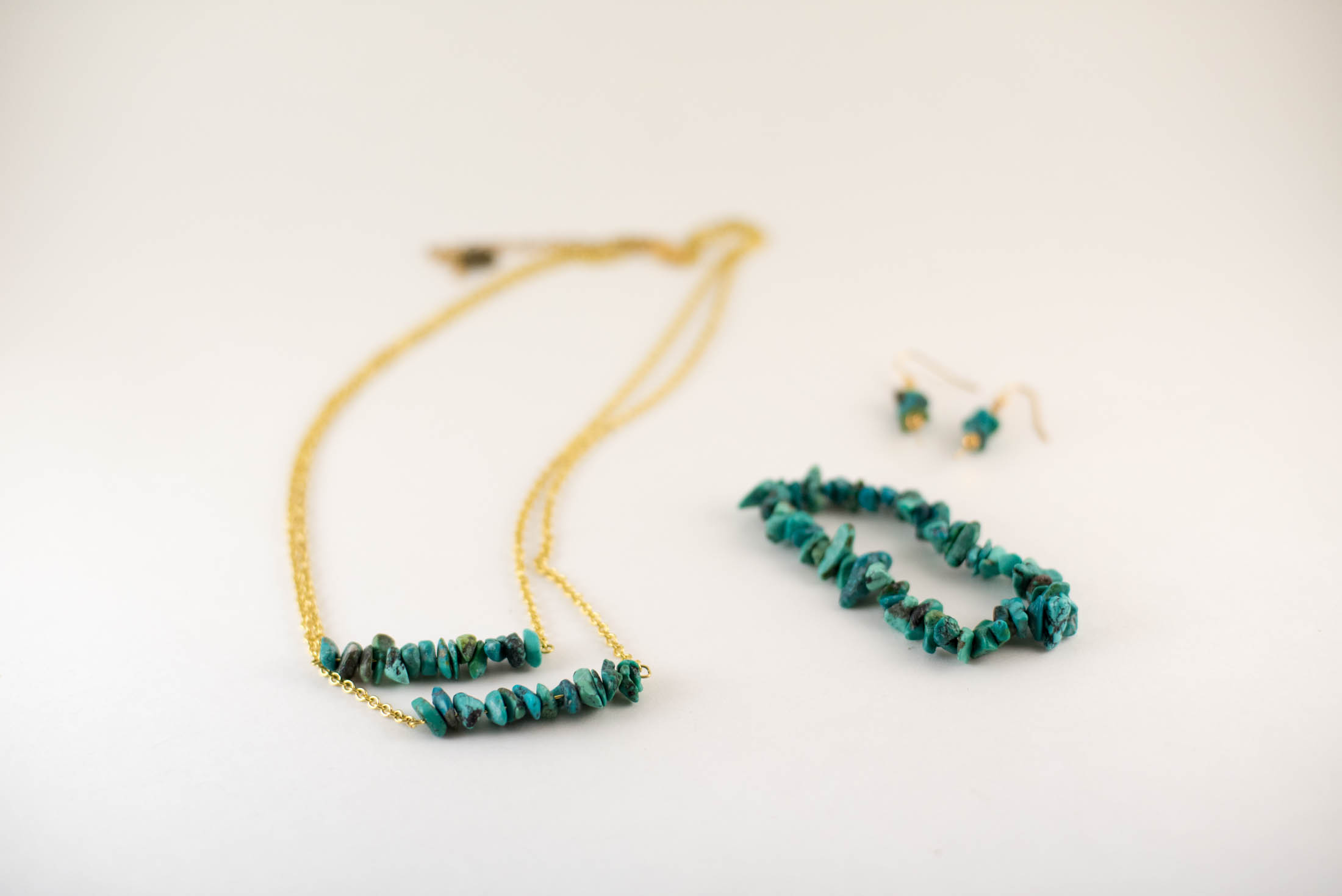 diy turquoise jewelry set