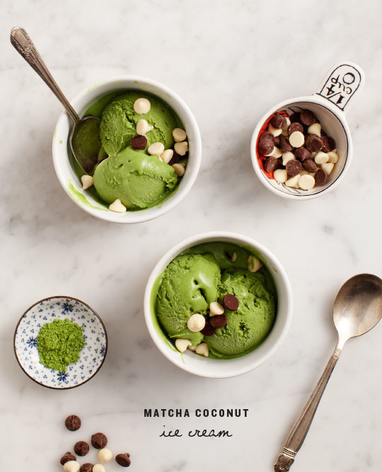 matcha coconut ice cream