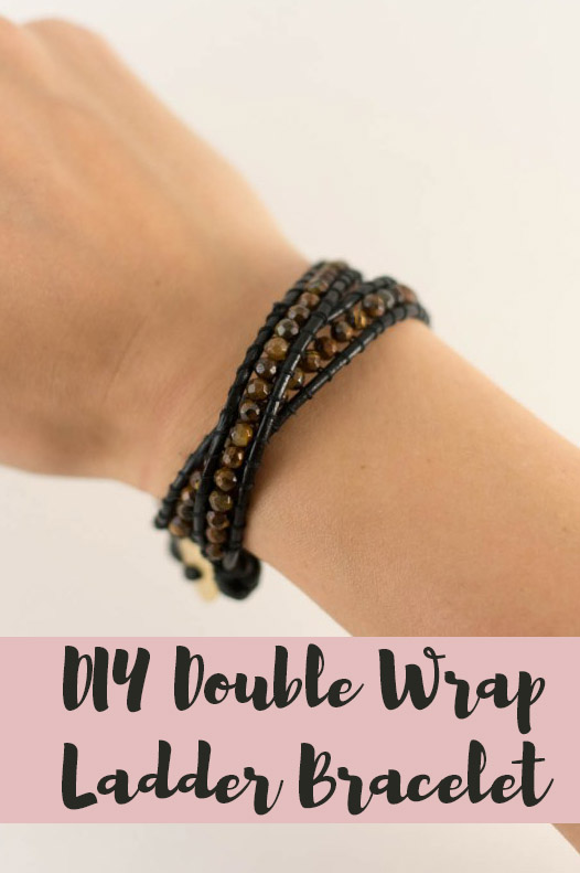 diy double wrap ladder bracelet