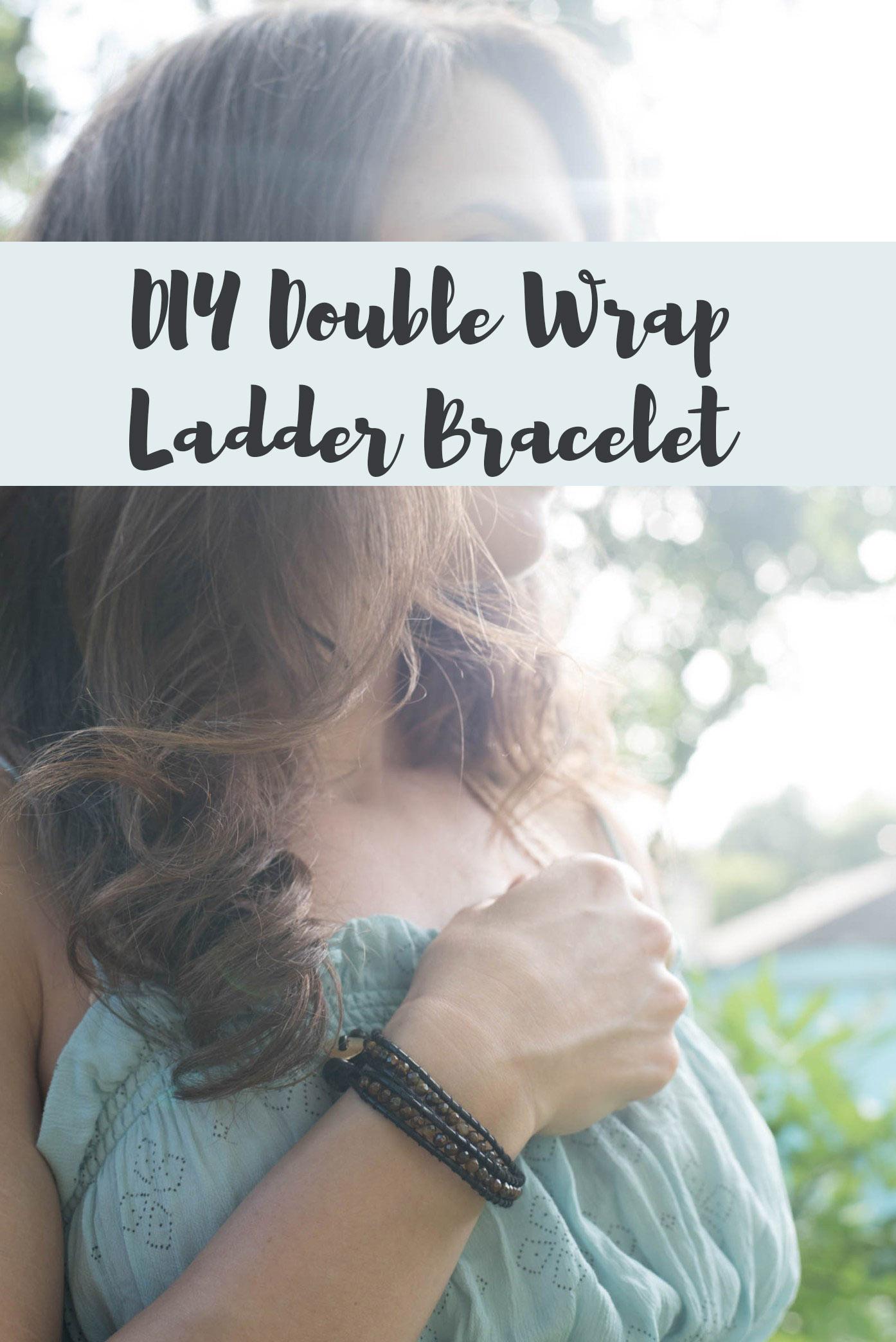 diy wrapped ladder bracelet