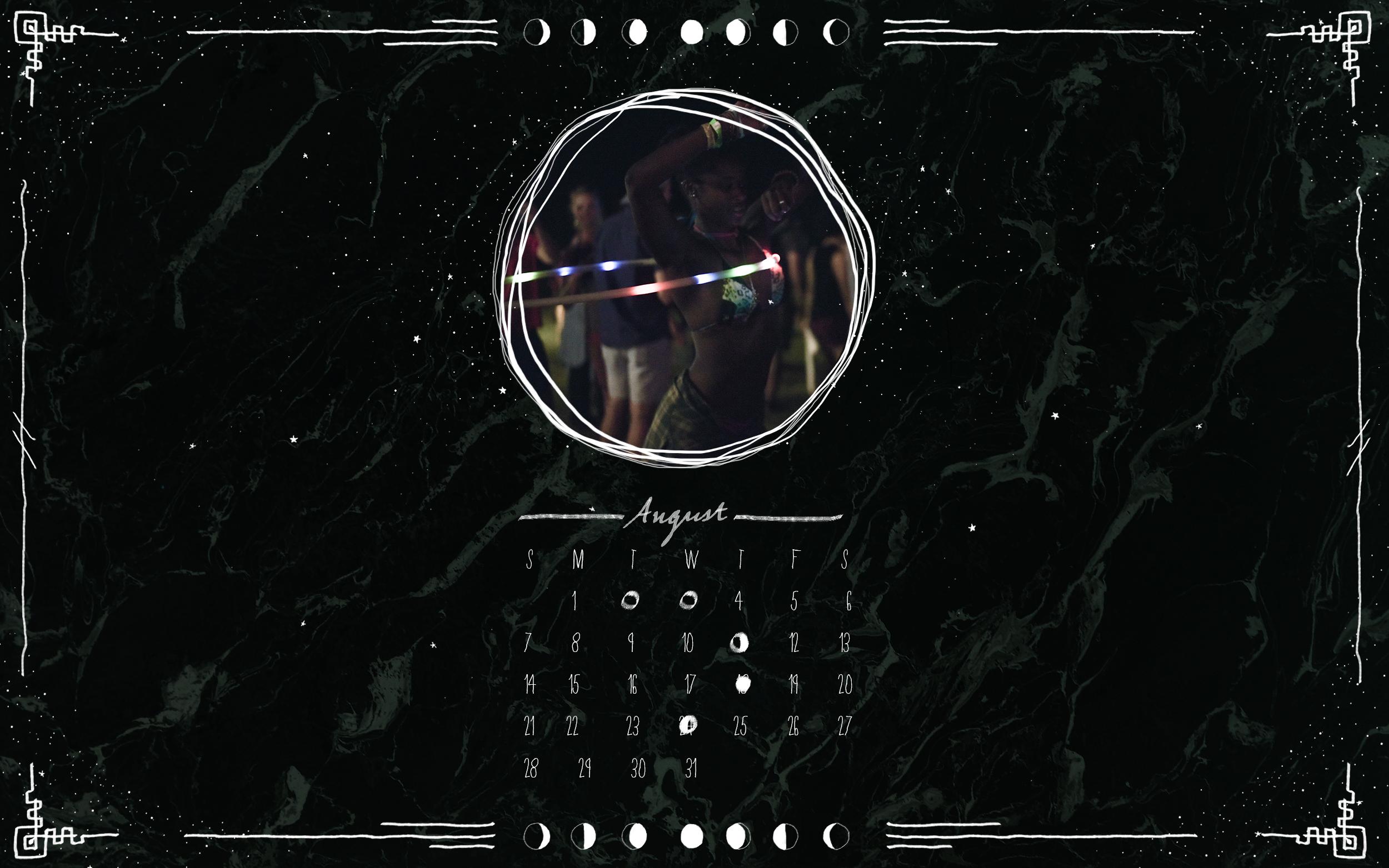 August Moon Calendar