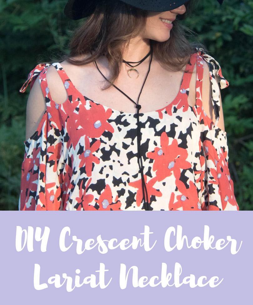 diy choker lariat necklace
