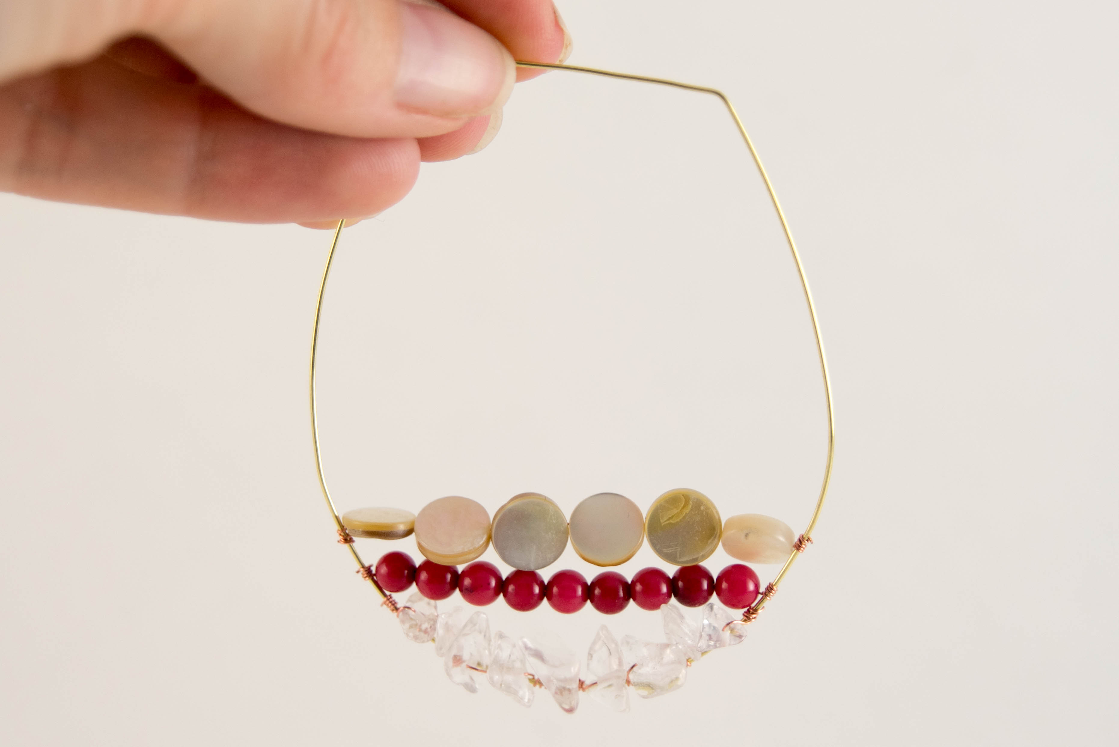 diy wire beaded earring