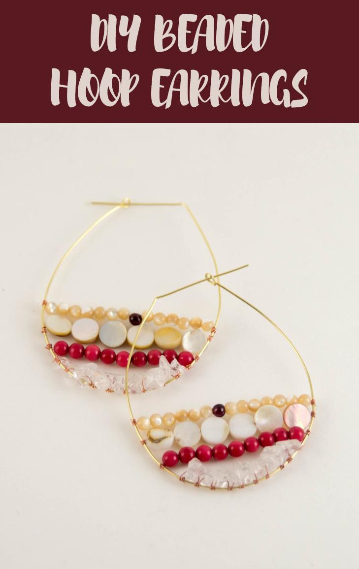 diy beaded hoop earrings