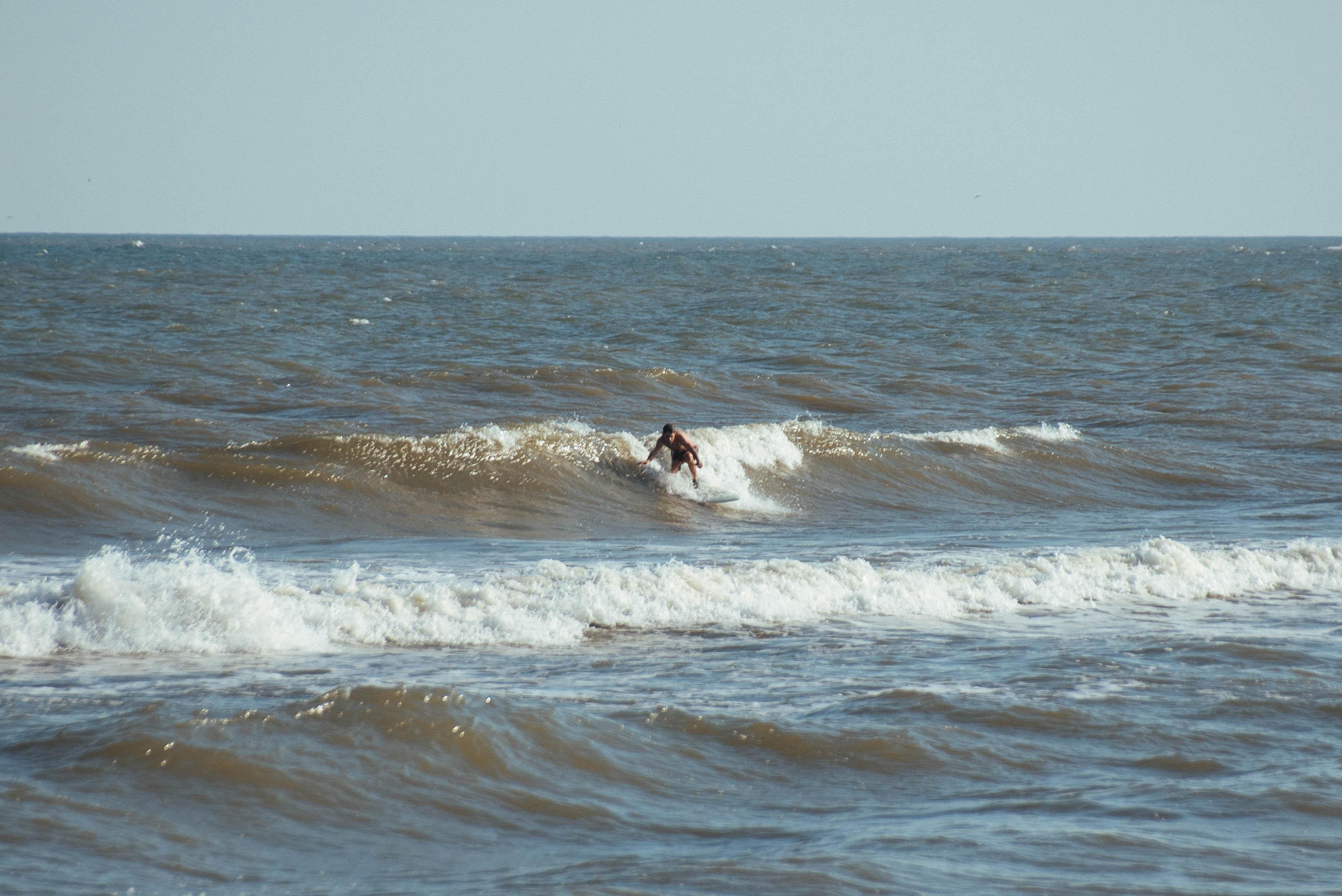 surfing in surfside