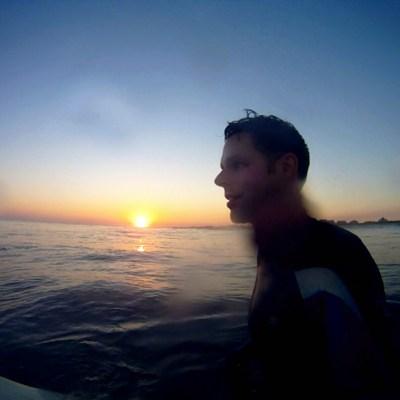 Surfing Around Matagorda Beach