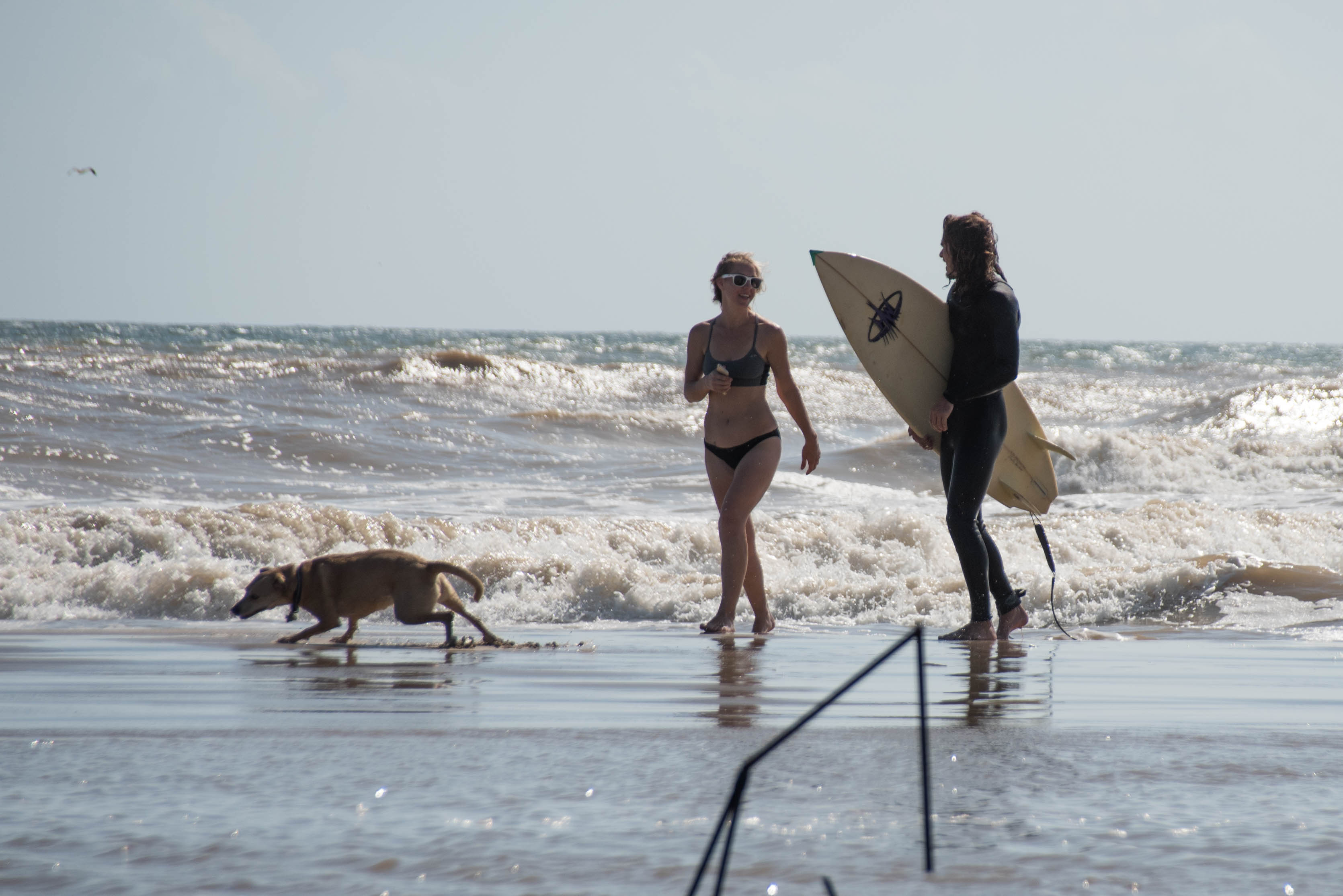 matagorda surfing couple