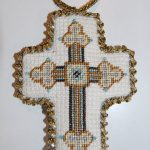 needlepoint canvas cross