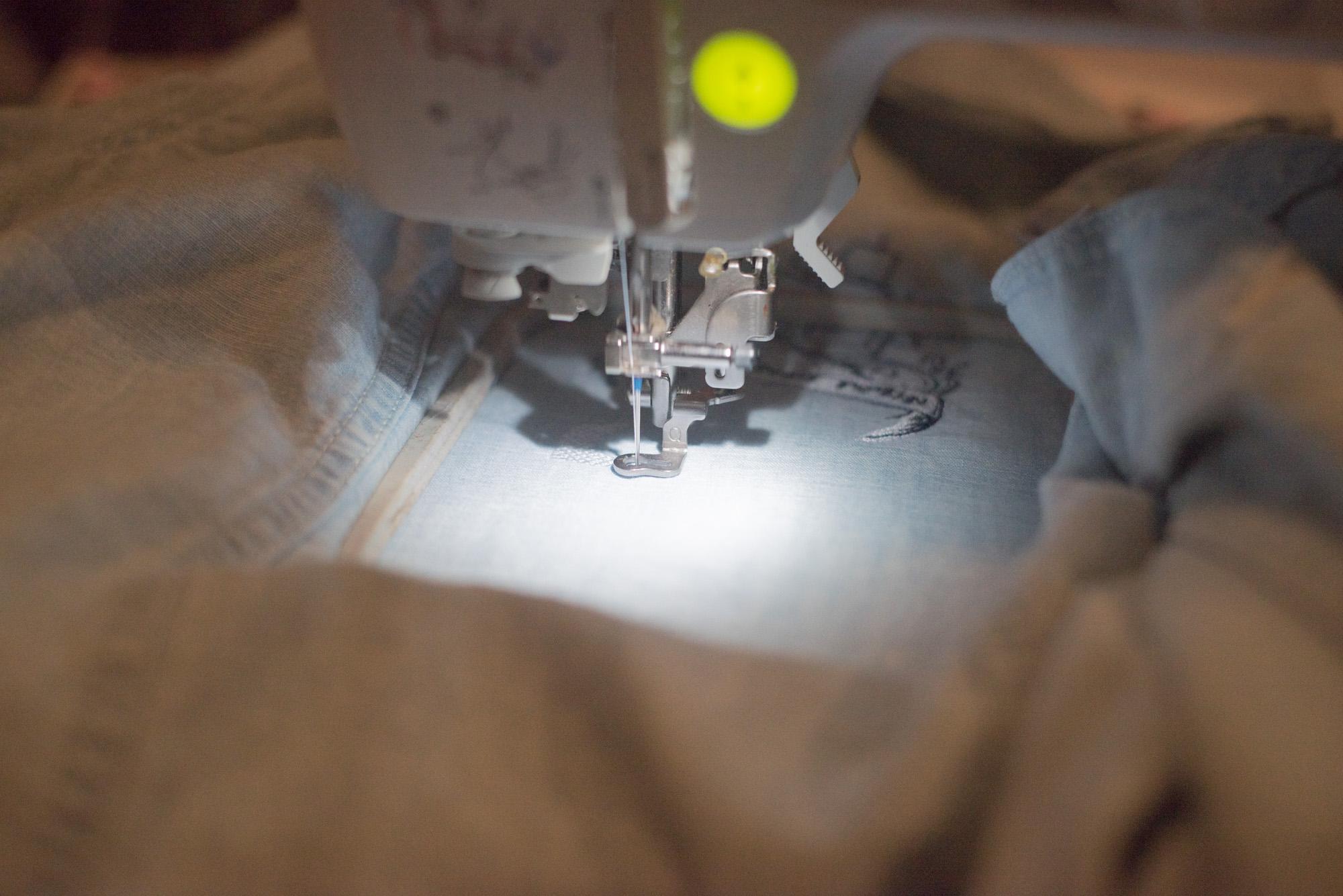 machine embroider jean jacket