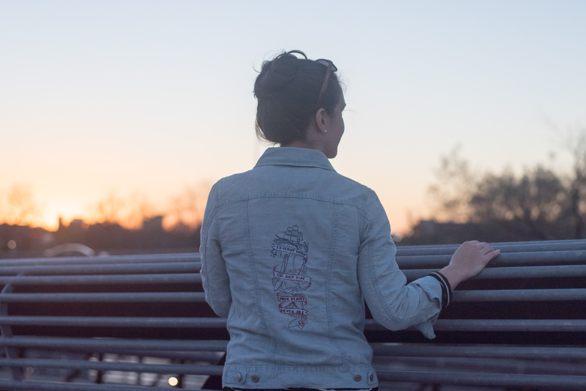 tutorial embroidered jean jacket