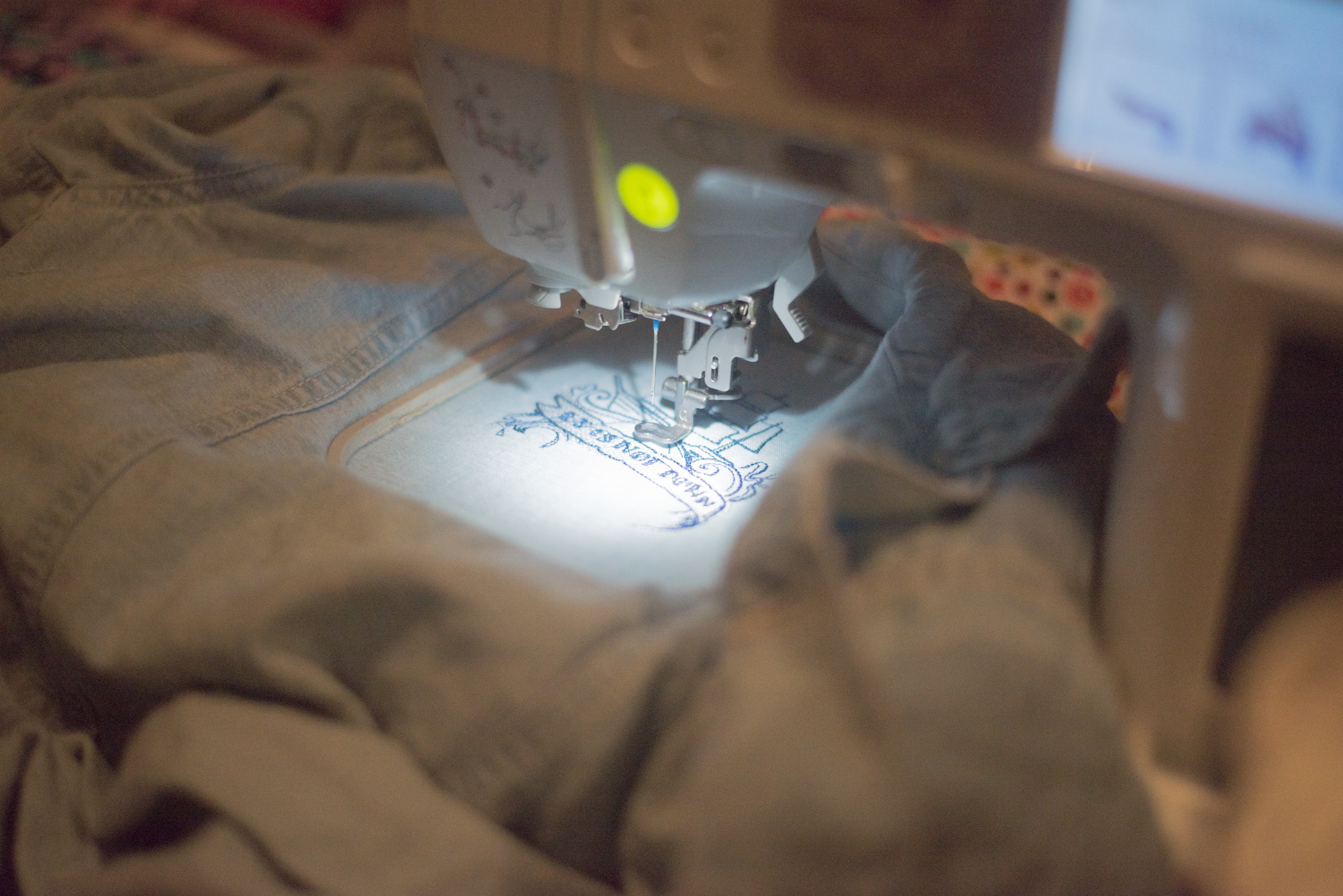 embroidered jean jacket sewing