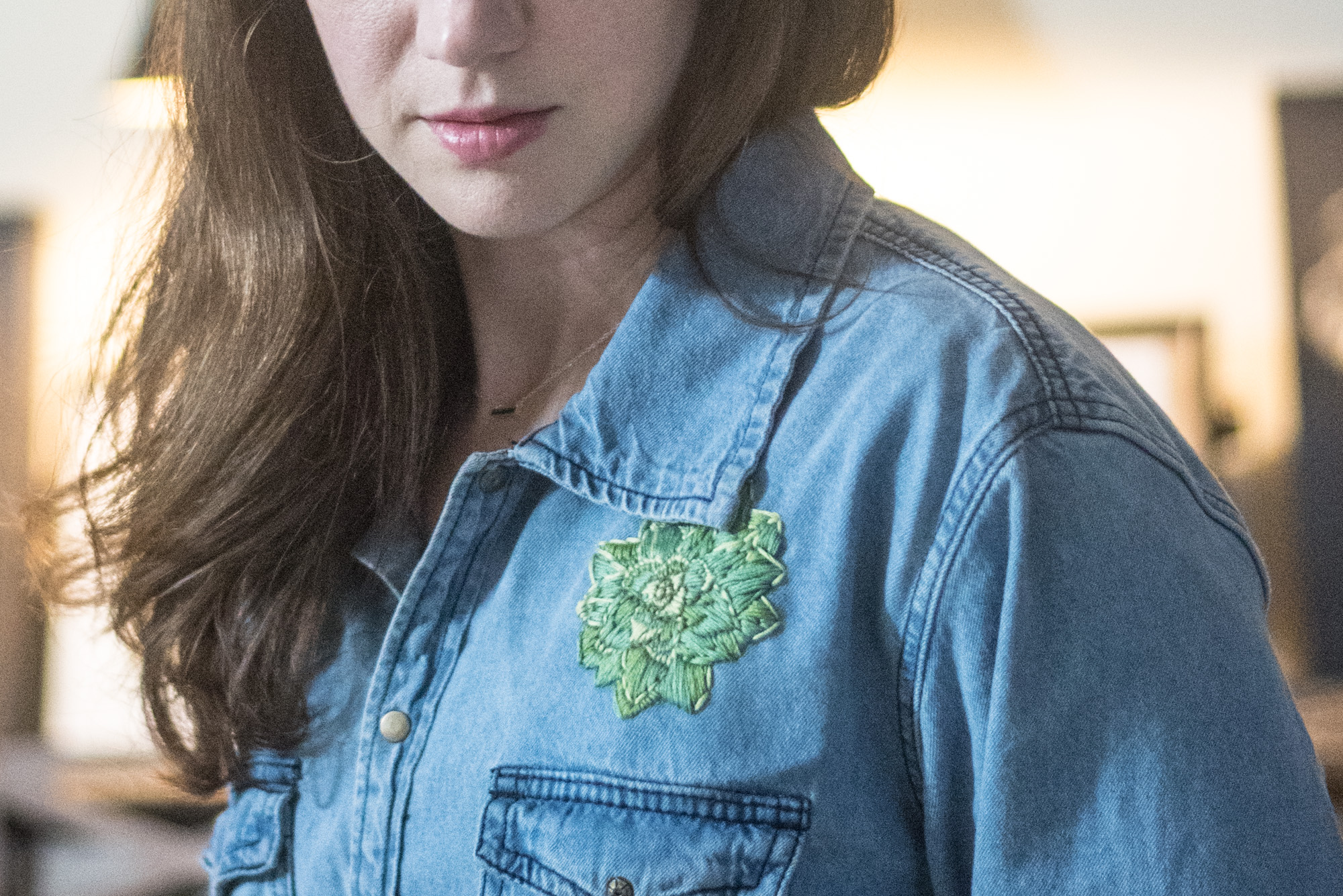 embroidered cactus diy