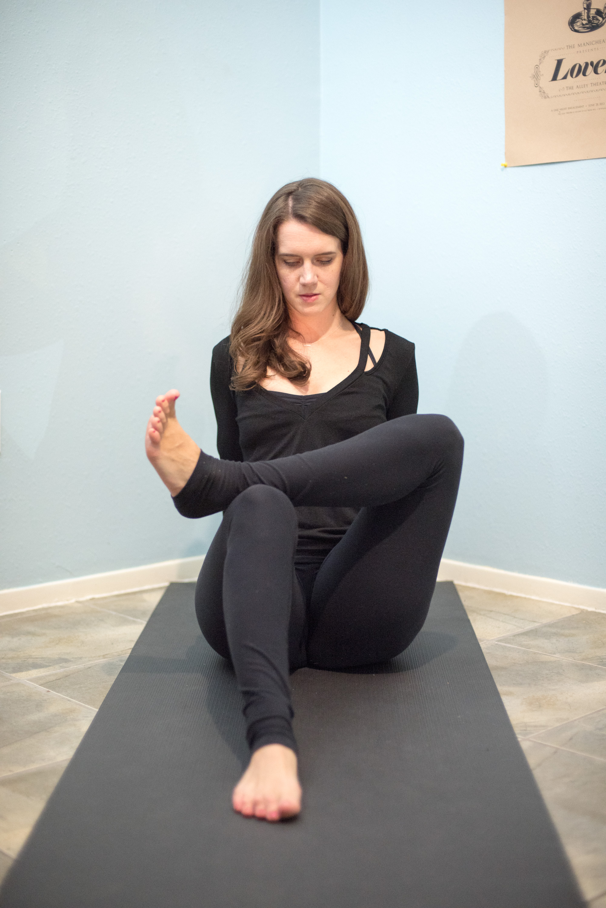 yoga figure four pose