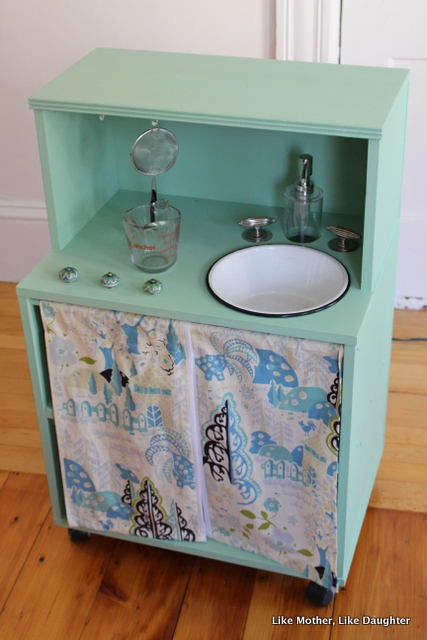 A DIY Play Kitchen with Running Water Like Mother Like Daughter