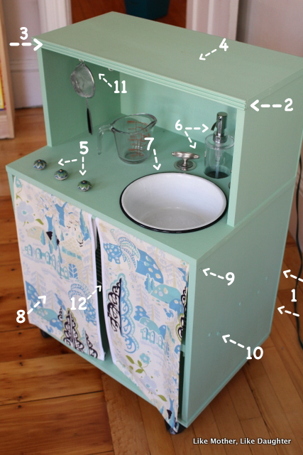 "A DIY Play Kitchen with ""Running Water"""