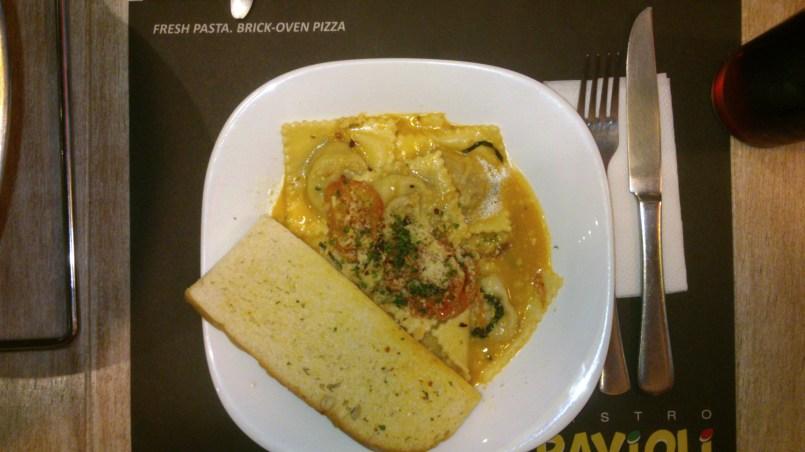 Mushroom and Mozzarella Ravioli