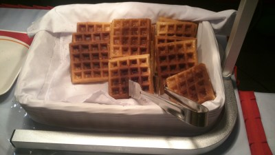 Cold waffles!