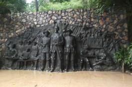 Stone mural of heroes