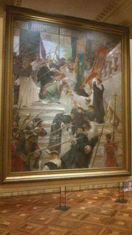 El Asesinato del Gobernador Bustamante (The Assassination of Governor Bustamante) by Félix Resurrección Hidalgo (1904)