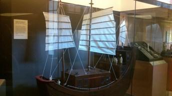 Model of a sailing vessel