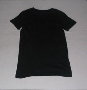 Black Shirt, Folded & Hung