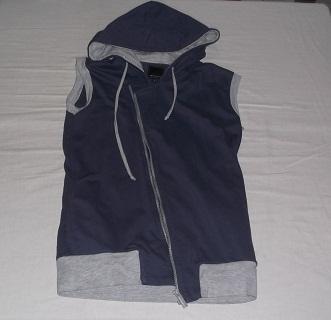 Cobalt Blue Hoodie with Grey Details, Penshoppe