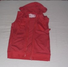Red Hoodie, Folded & Hung