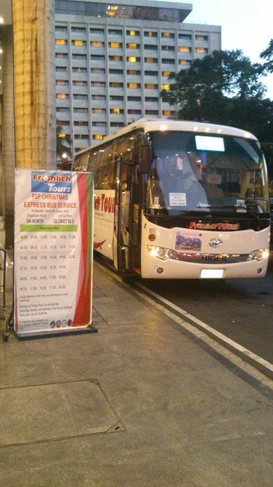Temporary bus terminal
