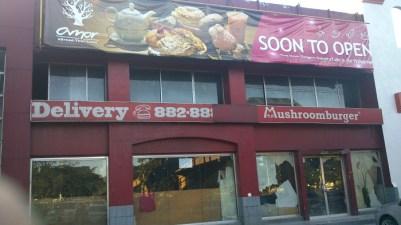 The closed Mushroomburger branch at Katipunan