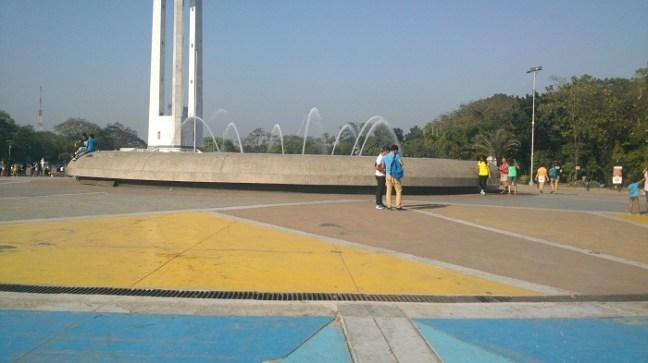 Fountain and Sunshine