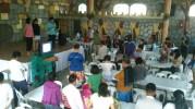 Church family at prayer