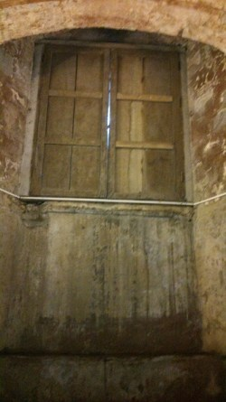 Former crypt door, missing its stairs
